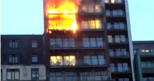 Πυρκαγιά σε 12ώροφη πολυκατοικία στο Μάντσεστερ (βίντεο)