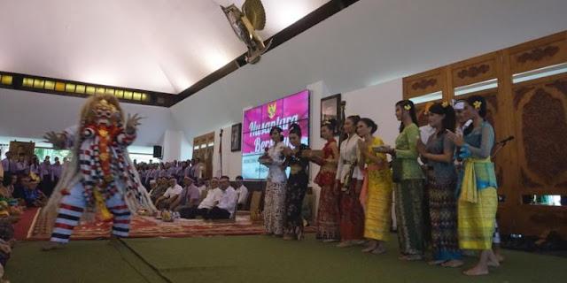 Nusantara Bersatuan di Banyuwangi lewat ekspresi kebudayaan.