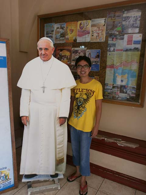 Standee of Pope Francis