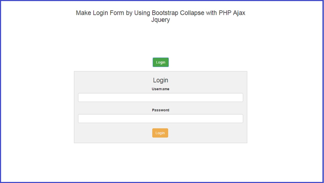 Make login form by using bootstrap collapse with php ajax jquery source code falaconquin