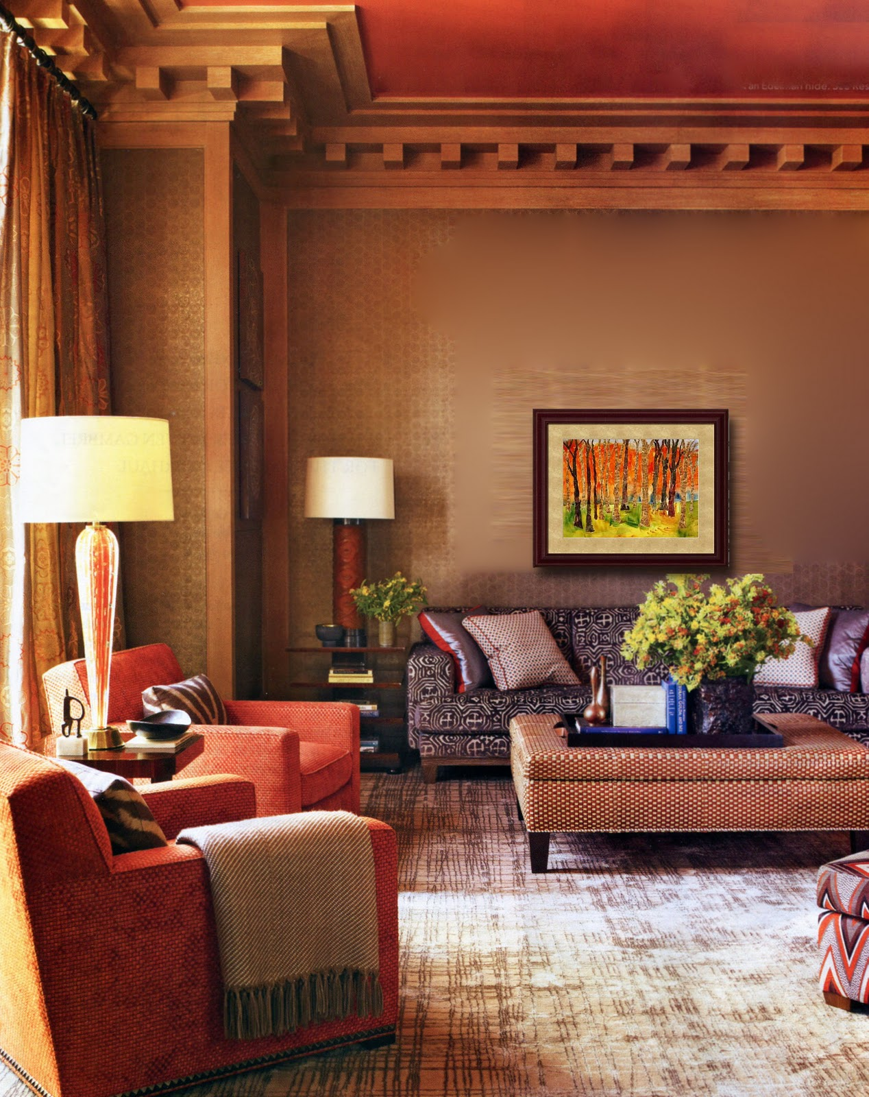 Decorating With Masculine Burnt Sienna
