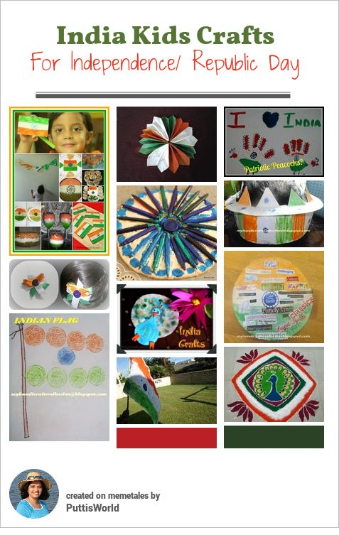 India Kids Craft Independence Republic