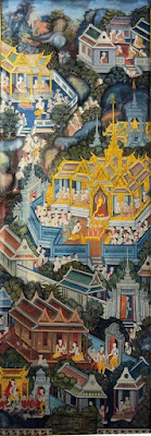 Elder Nun Dhammadinnā's Story painted at Wat Pho, Bangkok