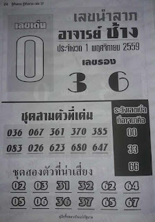 Thailand Lotto Tips Exclusive 01 Sept 2016 Touch Direct Set Tip
