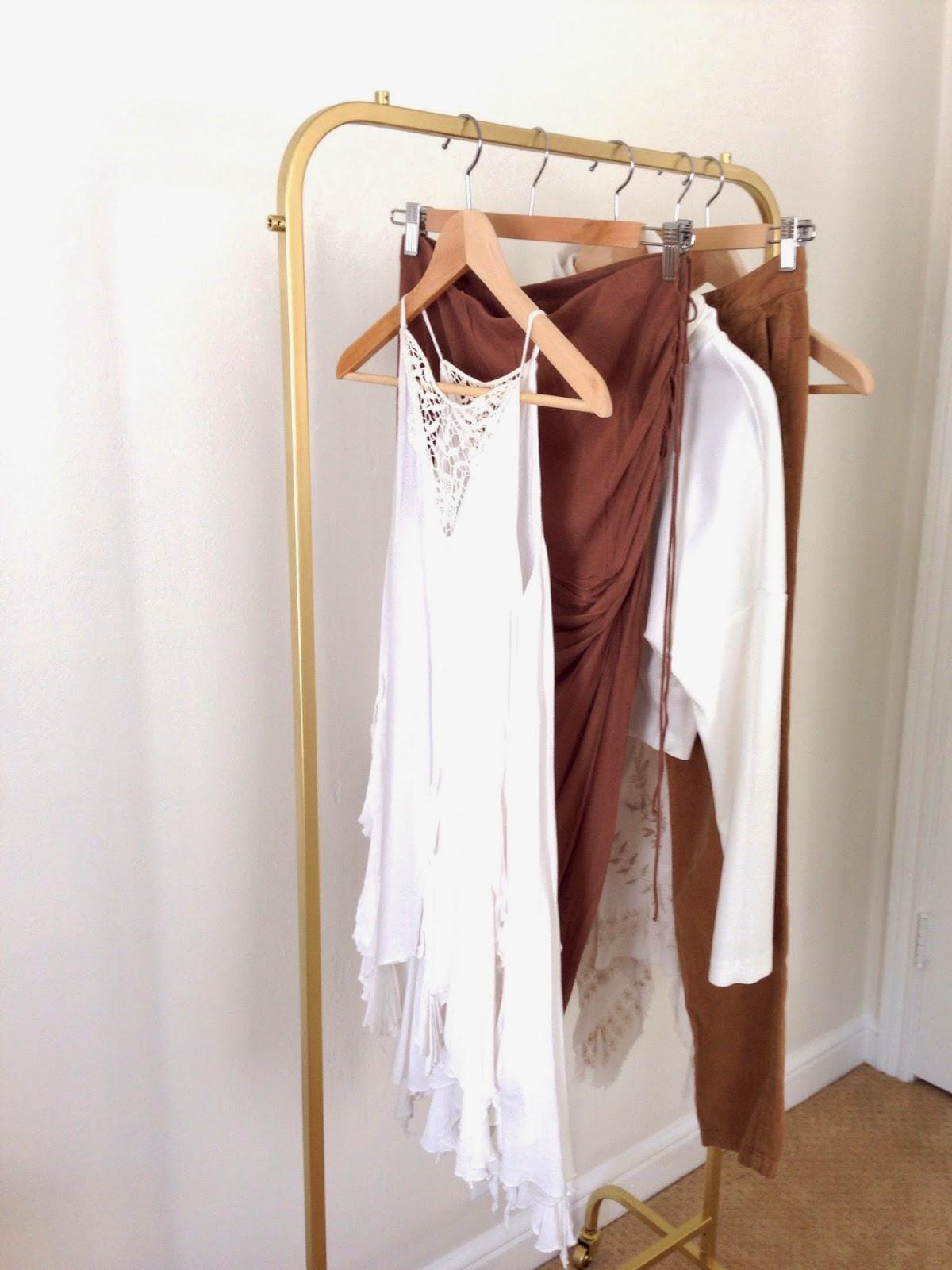 Diy Gold Clothes Rack Basics And Gold