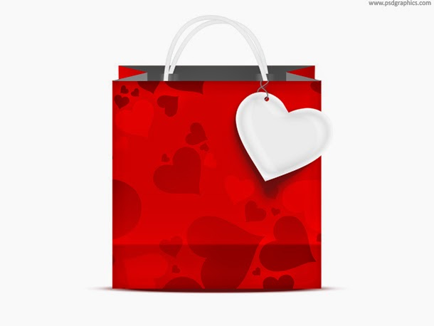 Valentine's Day Shopping Bag