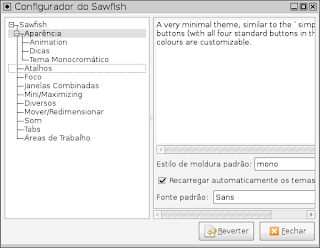 Configure o Ambiente gráfico Sawfish