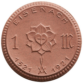 Notgeldmünze (Porzellan) 1921