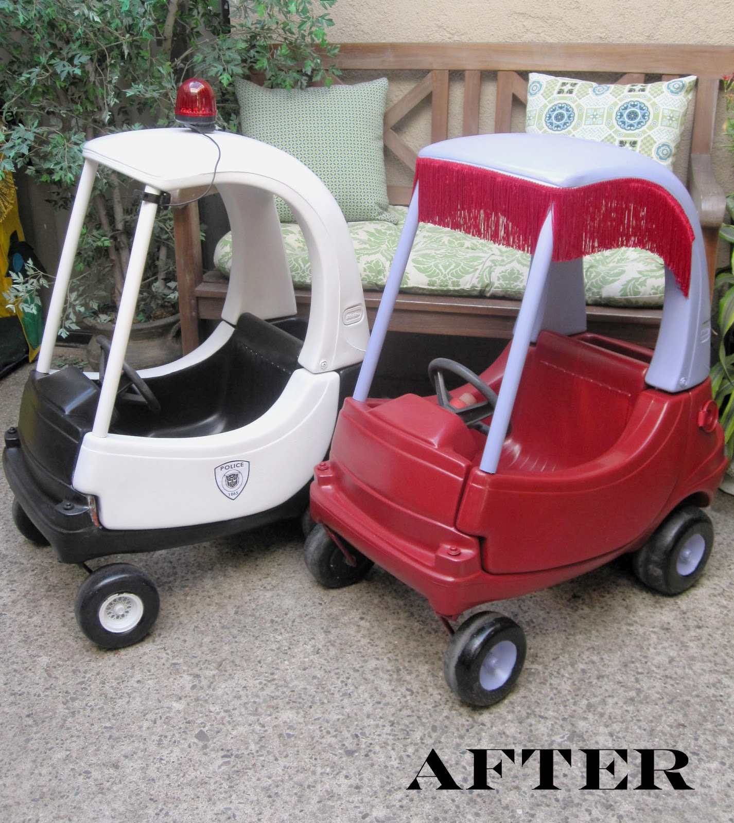 The Scarlett Letters: Pimp My (Cozy Coupe) Rides