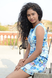 Actress Priyankha Stills in Floral Short Dress at Golmal Gullu Movie Pressmeet 0302.JPG