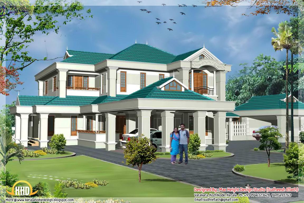 Luxury kerala villa 4250 sq ft kerala home design and for Luxury villa plan