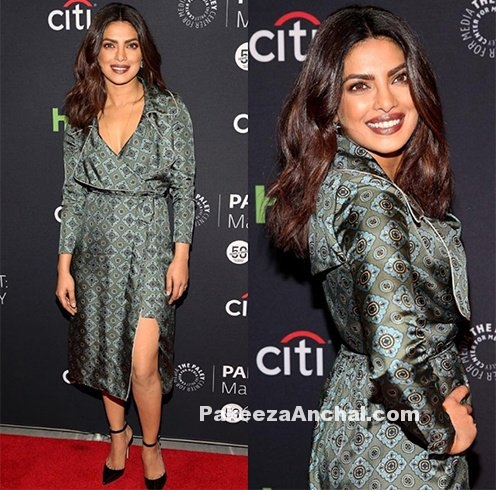 Priyanka Chopra in Burberry x Barneys Oomph Dress