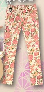 Floral Print Jeans - Valleygirl