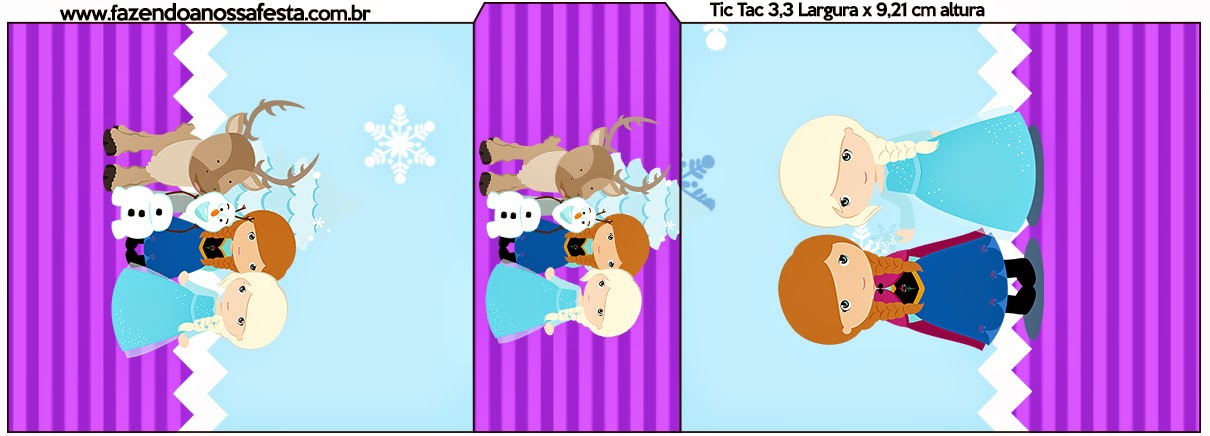 Etiqueta Tic Tac para imprimir gratis de Frozen Niñas en Navidad.