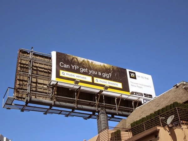 Can Yellow Pages get you a gig billboard