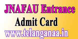 JNAFAU Entrance Examination Admit Card