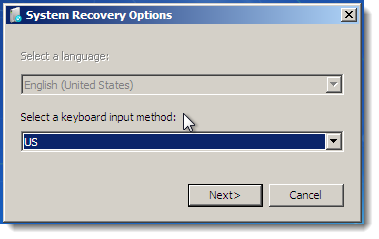 windows system recovery
