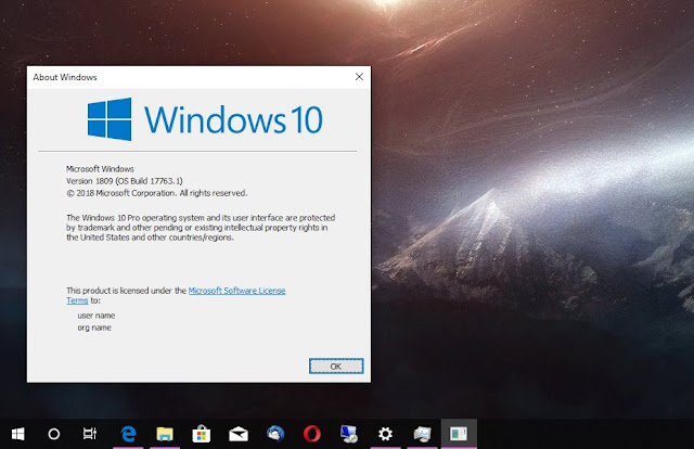 Windows 10 1809 Update KB4501835 Released