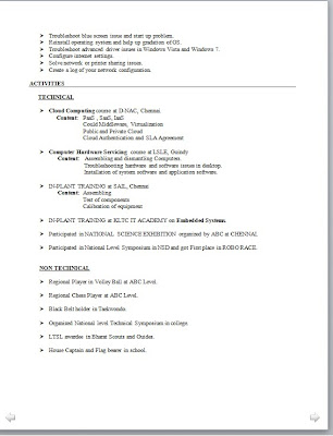 Electronic Engineer Resume Format - resume models for engineers