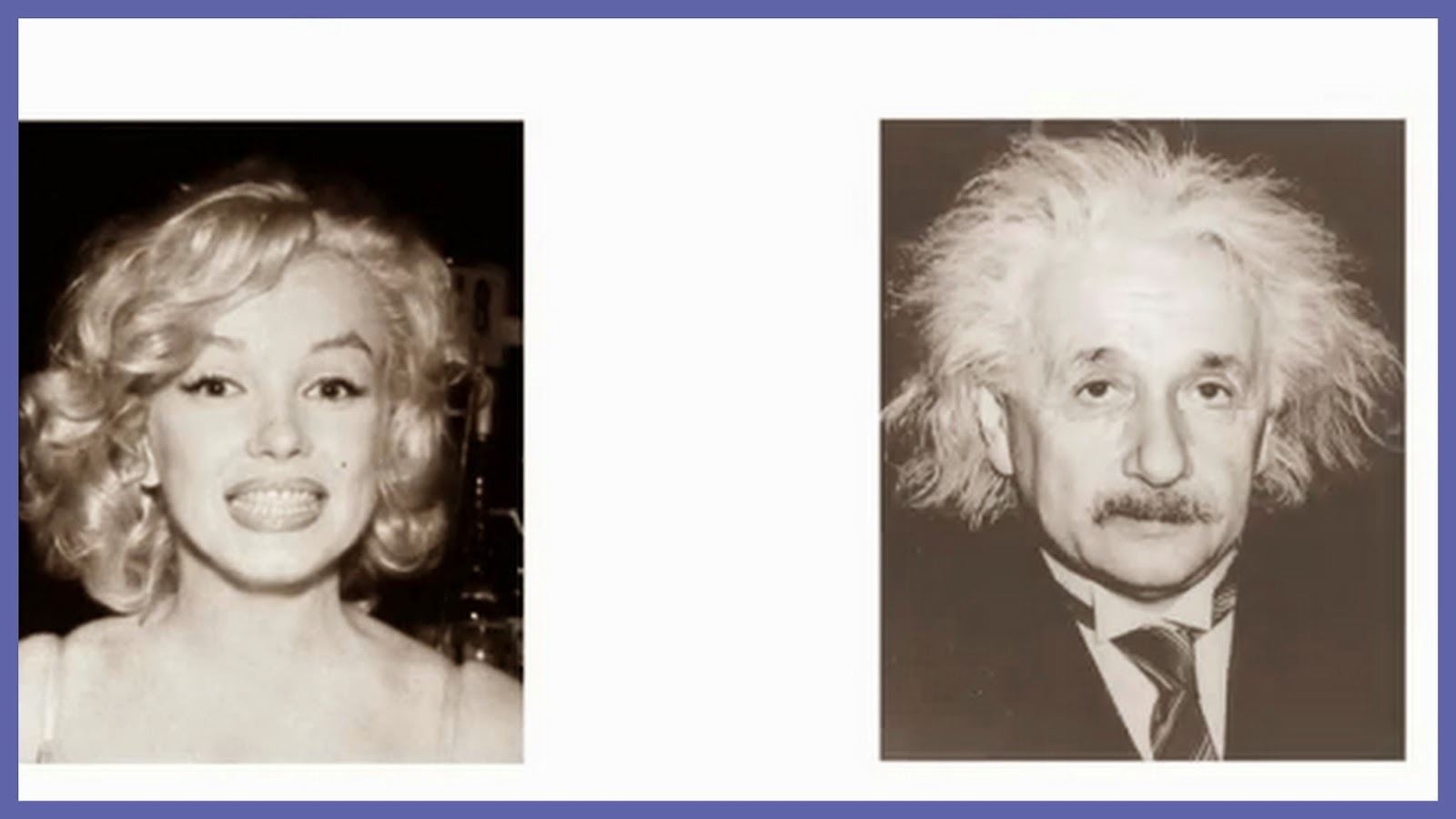 Do you see marilyn monroe or einstein