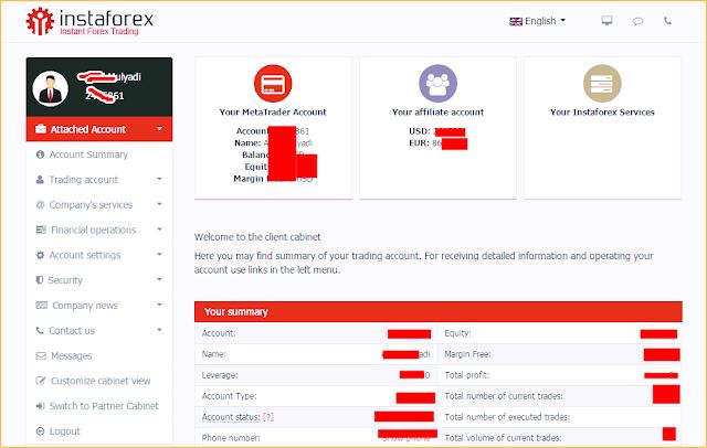Gambar dan Petunjuk serta Panduan Memulai Trading di Broker Instaforex