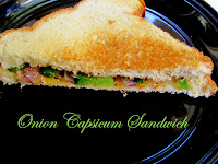 onion capsicum sandwich