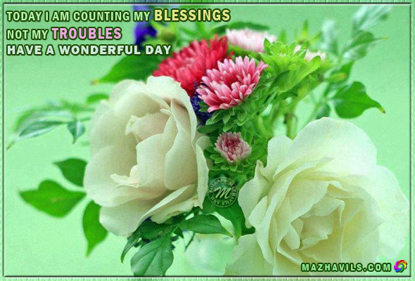 Am My My Today Blessings I Troubles Counting Not