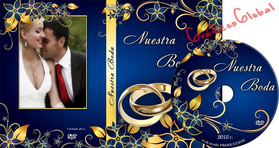 Diseño floral con anillo psd PORTADA DVD