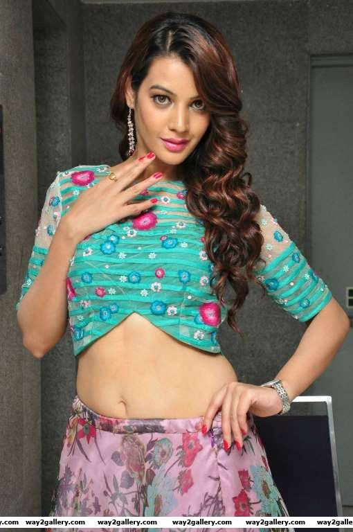 Deeksha Panth poses for photographers during the audio launch of Telugu film Chal Chal Gurram