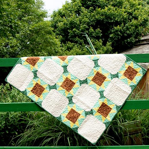 Summer Fields Quilt Free Pattern designed by Accuquilt