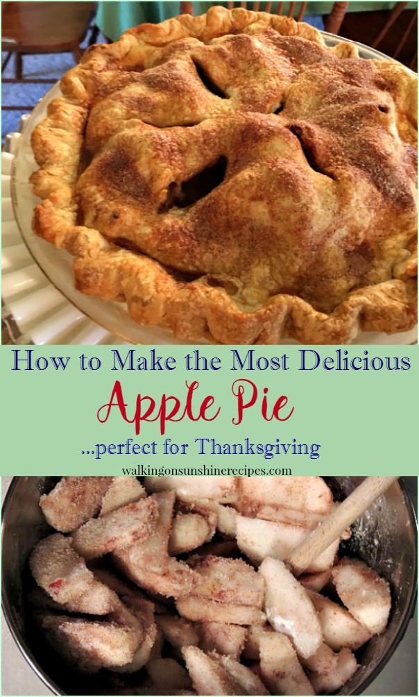 The most delicious apple pie recipe to make for your family and friends from Walking on Sunshine Recipes.
