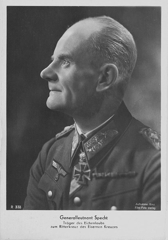 Karl Wilhelm Specht Ritterkreuzträger Knight Cross Holder Postcard