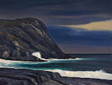 Brewing Storm. Monhegan by Rockwell Kent - Landscape Paintings from Hermitage Museum