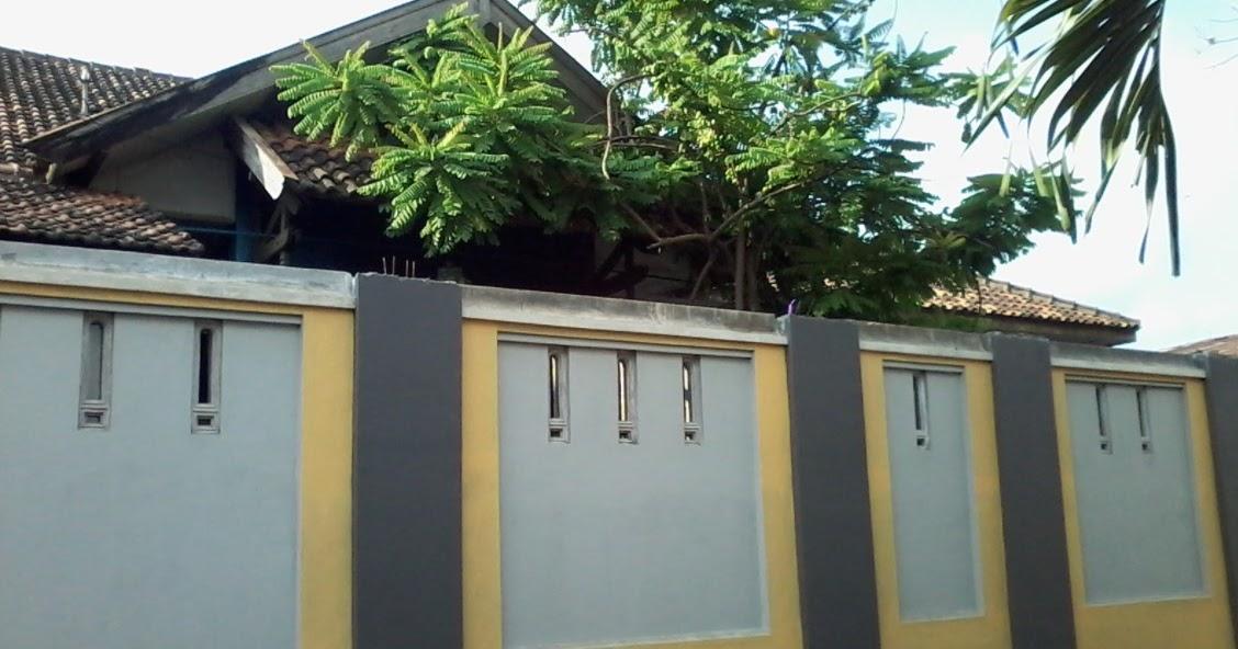 model pagar tembok depan rumah terbaru 32