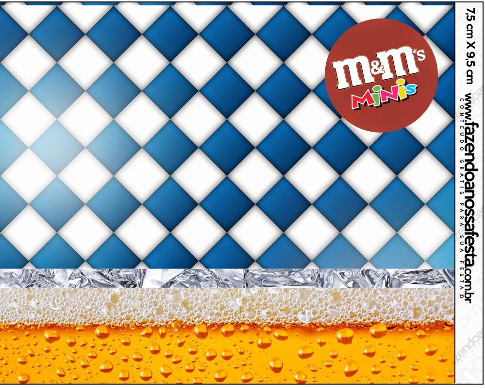 Etiqueta M&M de Fiesta de la Cerveza para imprimir gratis.
