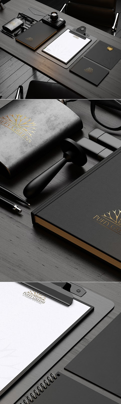 Download Free Mockup PSD 2018 - Dark Stationery Mockup PSD Free Download