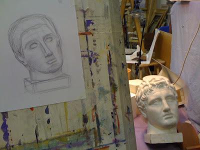 Рисунок головы и натура