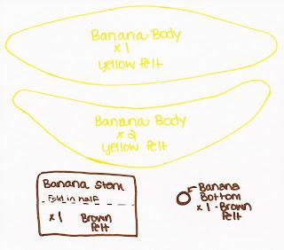 bananas - Banana de feltro