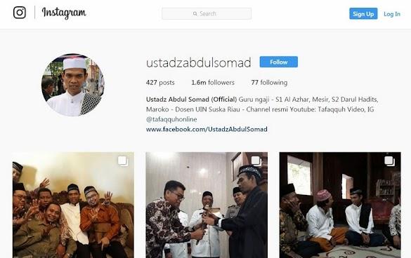 Dukungan Luas Mengalir Akun Instagram Ustadz Abdul Somad Kini Sudah Bisa Dibuka