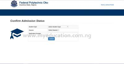 Federal Polytechnic Oko HND First Batch Admission List Released