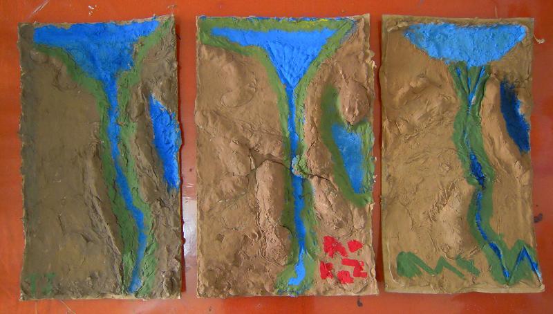 Salt Dough Maps Egypt