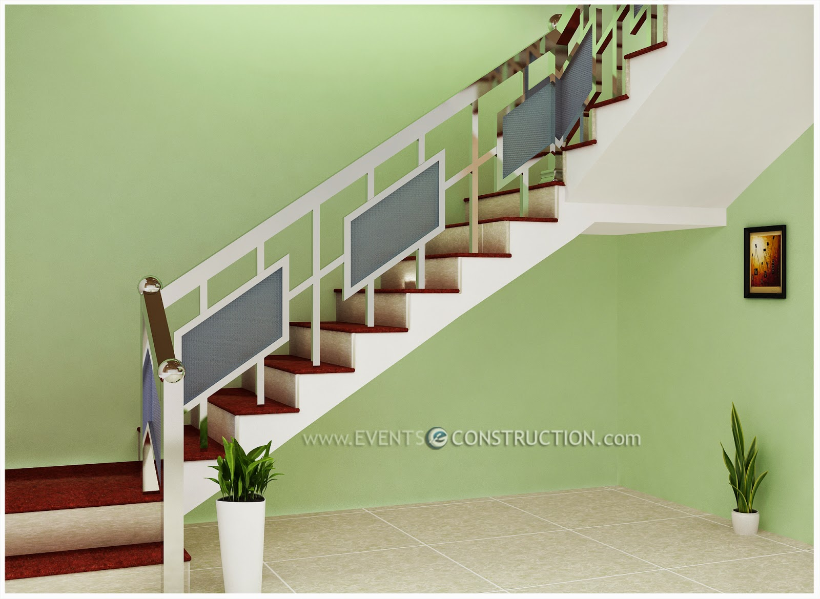 Simple Stairs Design Evens Construction Pvt Ltd Simple Staircase Design