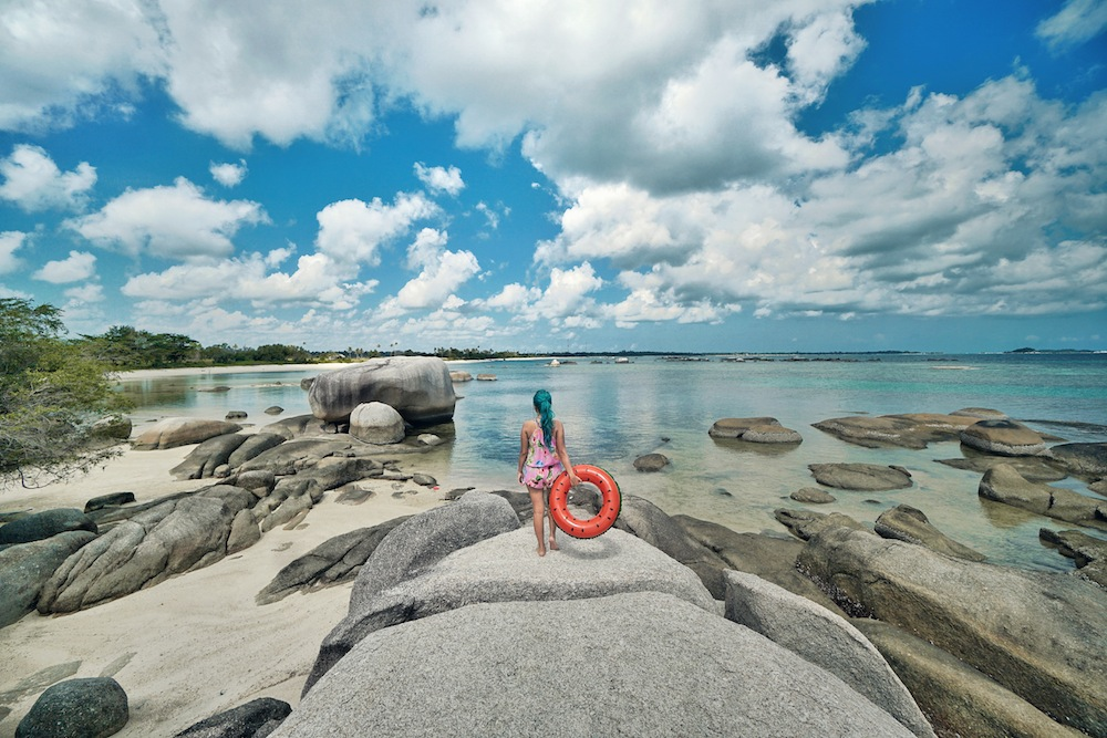 "Indonesia best destinations: Instagrammable Location Inwards Belitung, <a href=""http://mataram.info/things-to-do-in-bali/visitindonesia-banda-marine-life-the-paradise-of-diving-topographic-point-inward-fundamental-maluku/"">Indonesia</a>"