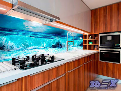 3d Panel, 3d Glass Panel, 3d Backsplash, 3d Kitchen Backsplash, 3d  Backsplash