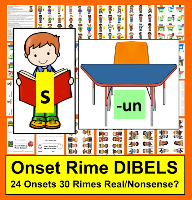 DIBELS blending activities for kindergarten and first grade
