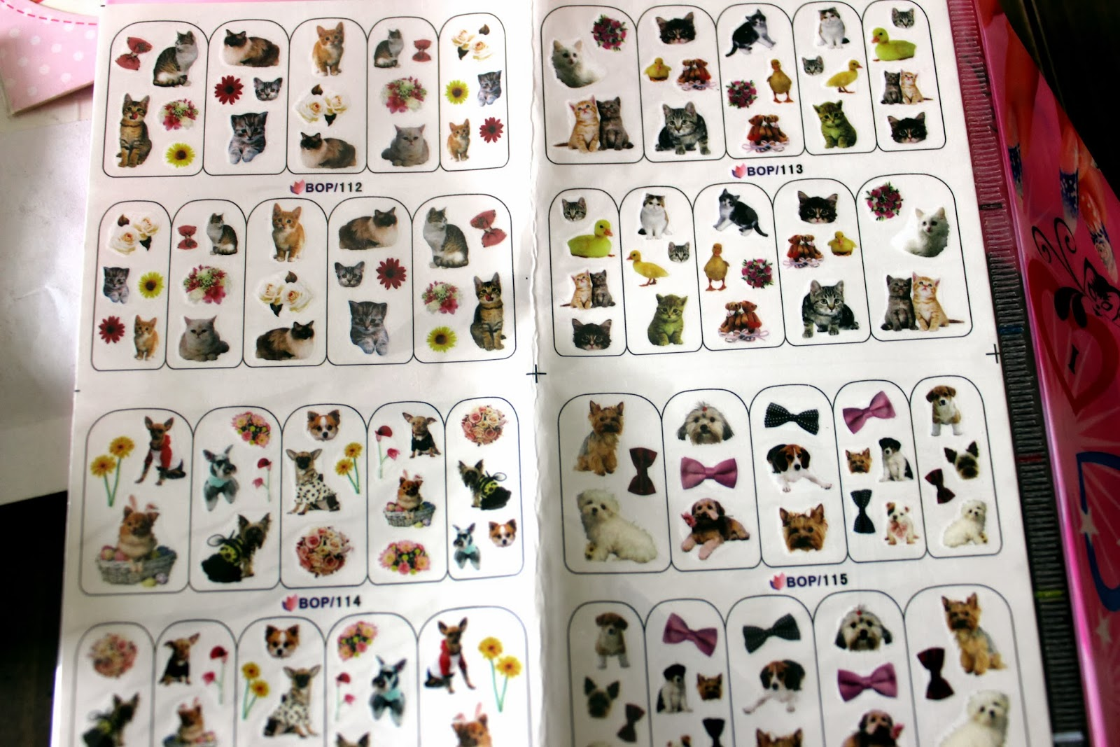 Bornpretty  Cute Dog And Cat Patterns Nail Art