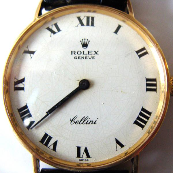Reloj Rolex Cellini antes de su restauración