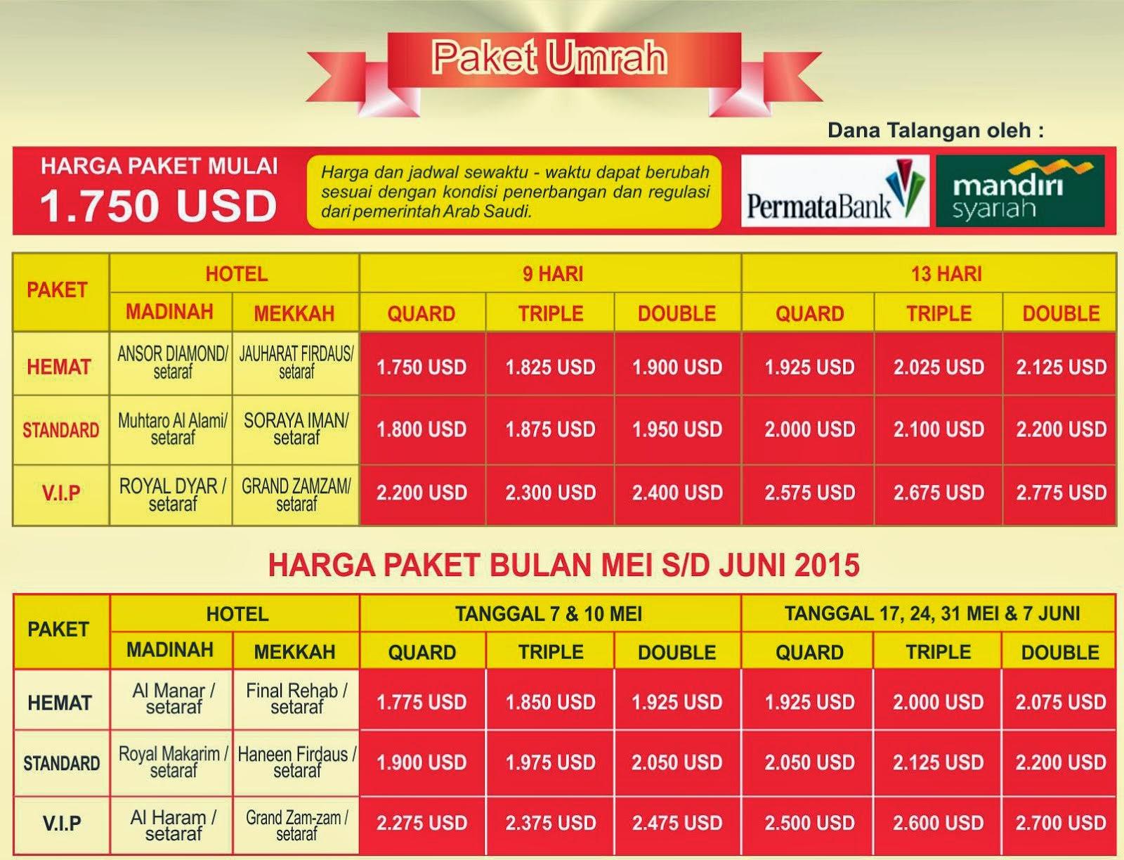 Biaya Paket Umroh 2015 Murah dan Hemat