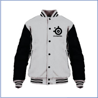 Jaket Gaming Varsity Steelseries gray