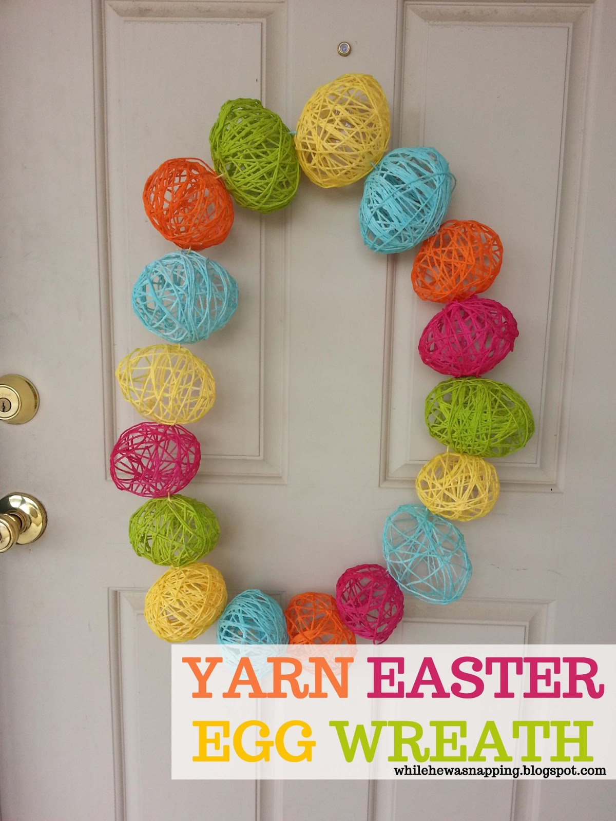 Easter Egg Wreath | While He Was Napping
